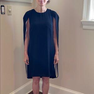 Halston cape dress